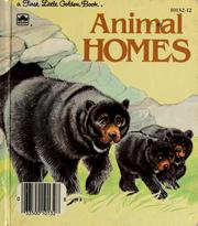 Cover of: Animal homes