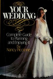 Cover of: Your wedding | Nancy Piccione