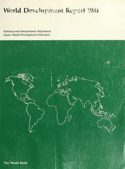 Cover of: World Development Report 1981