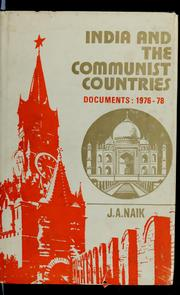 Cover of: India and the communist countries