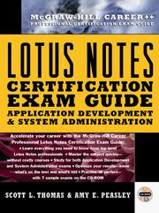 Cover of: Lotus Notes certification | Scott L. Thomas