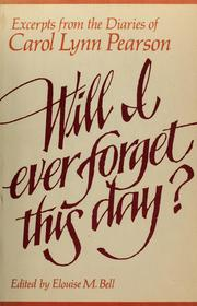 Cover of: Will I ever forget this day?: Excerpts
