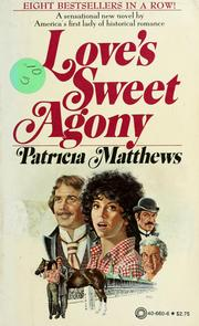Cover of: Love's sweet agony