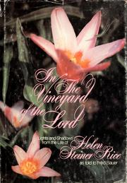 Cover of: In the vineyard of the Lord