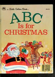 Cover of: ABC is for Christmas