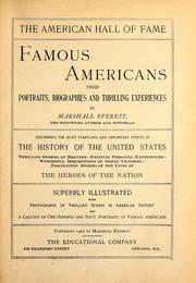Cover of: Famous Americans by Marshall Everett