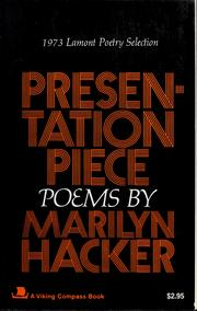 Cover of: Presentation Piece | Marilyn Hacker
