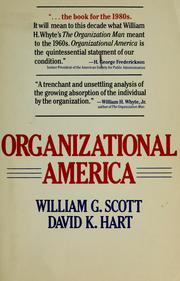 Cover of: Organizational America | William G. Scott