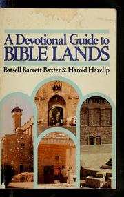 Cover of: A devotional guide to Bible lands