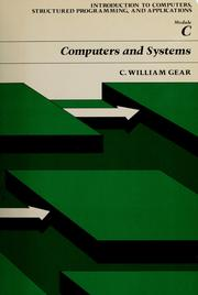 Cover of: Computers and systems, including general introduction