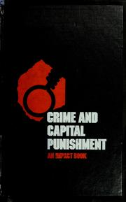 Cover of: Crime and capital punishment | Robert H. Loeb