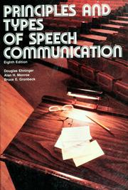 Cover of: Principles and types of speech communication