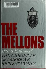 Cover of: The Mellons | David E. Koskoff