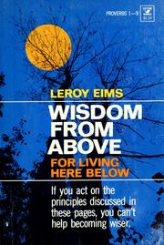 Cover of: Wisdom from above for living here below