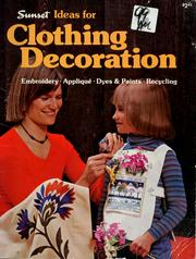 Cover of: Clothing decoration |