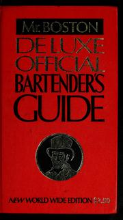 Cover of: Deluxe official bartender's guide |