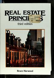 Cover of: Real estate principles