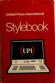 Cover of: The UPI stylebook | Bobby Ray Miller