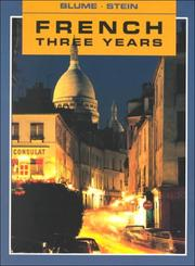 Cover of: French Three Years Workbook (R 588 W)