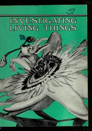 Cover of: Investigating living things