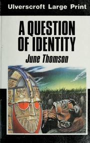 Cover of: A question of identity