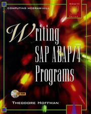 Cover of: Writing SAP ABAP/4 programs