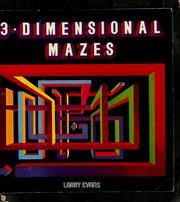 Cover of: 3-dimensional mazes