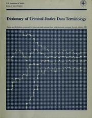 Cover of: Dictionary of criminal justice data terminology by Search Group.