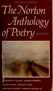 Cover of: The Norton anthology of poetry.  Shorter edition by