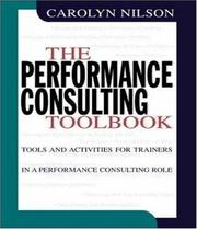 Cover of: The performance consulting toolbook