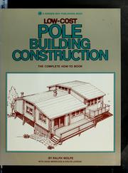 Cover of: Low-cost pole building construction | Doug Merrilees