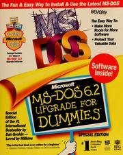 Cover of: Microsoft MS-DOS 6.2 upgrade for dummies | Dan Gookin