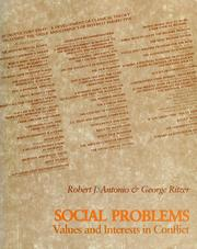 Cover of: Social problems | Robert J. Antonio