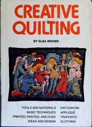 Cover of: Creative quilting