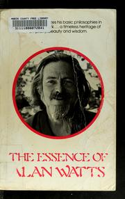 Cover of: The essence of Alan Watts | Alan Watts