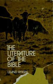Cover of: The literature of the Bible