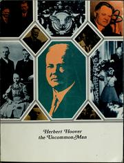 Cover of: Herbert Hoover, the uncommon man. | Hoover Presidential Library Association