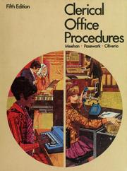 Cover of: Clerical office procedures