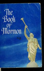 Cover of: The book of Mormon | Joseph Smith, Jr.