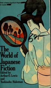 Cover of: The world of Japanese fiction