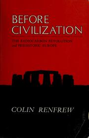 Cover of: Before civilization