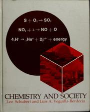 Cover of: Chemistry and society
