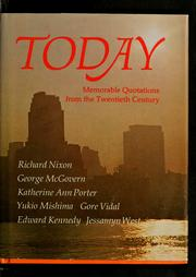 Cover of: Today