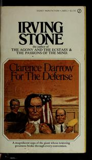 Cover of: Clarence Darrow for the defense