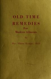 Cover of: Old time remedies for modern ailments