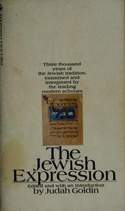 Cover of: The Jewish expression