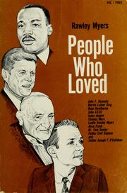 Cover of: People who loved