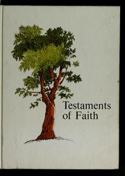 Cover of: Testaments of faith | Roy Z. Kemp