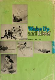 Cover of: Wake up and live!