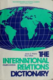Cover of: The international relations dictionary